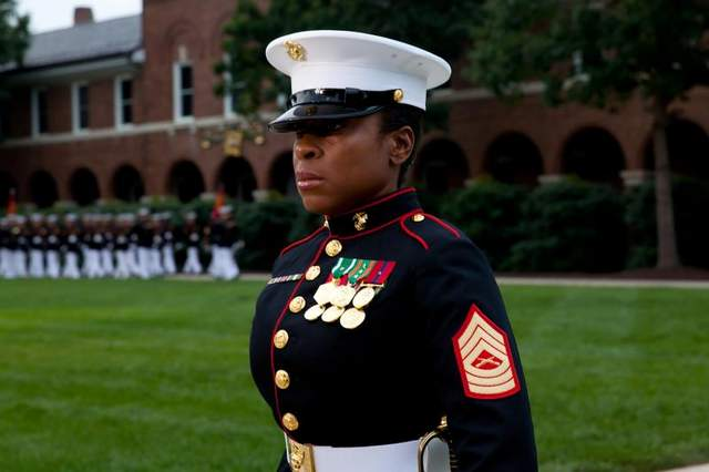 One-dress-blue-for-men-and-women-in-the-Marine-Corps