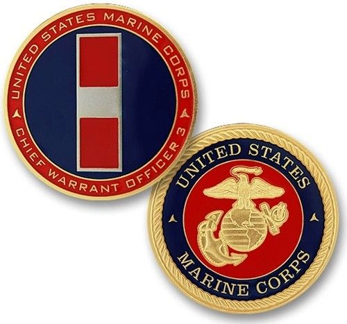 USMC-Marine-Corps-Challenge-Coin-Rank-W-3-Chief-Warrant-Officer-3-175-Brass-292372393779